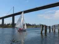 Sailing under the Erskine Bridge